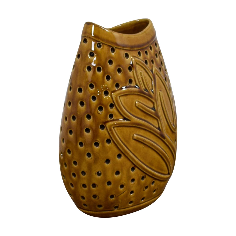 buy  Decorative Golden Ceramic Vase online
