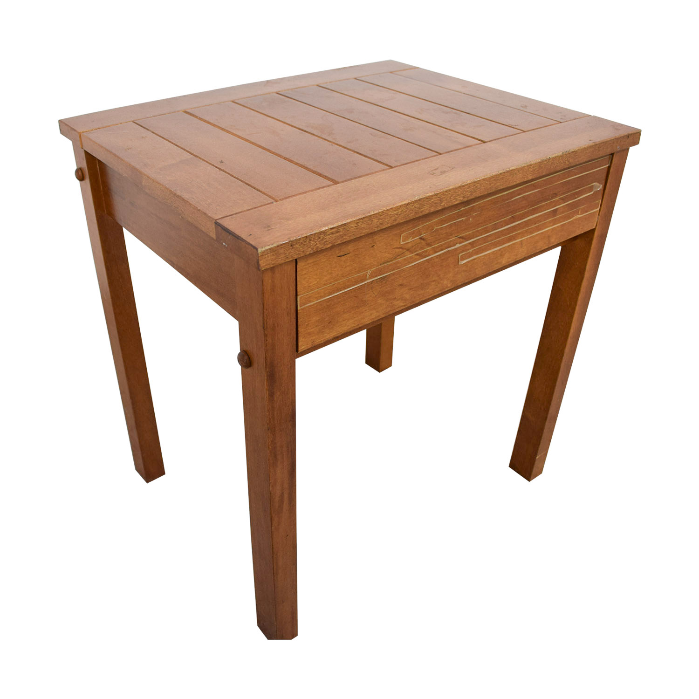 buy Rustic Wood Nightstand online