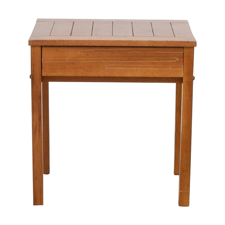 Rustic Wood Nightstand nj