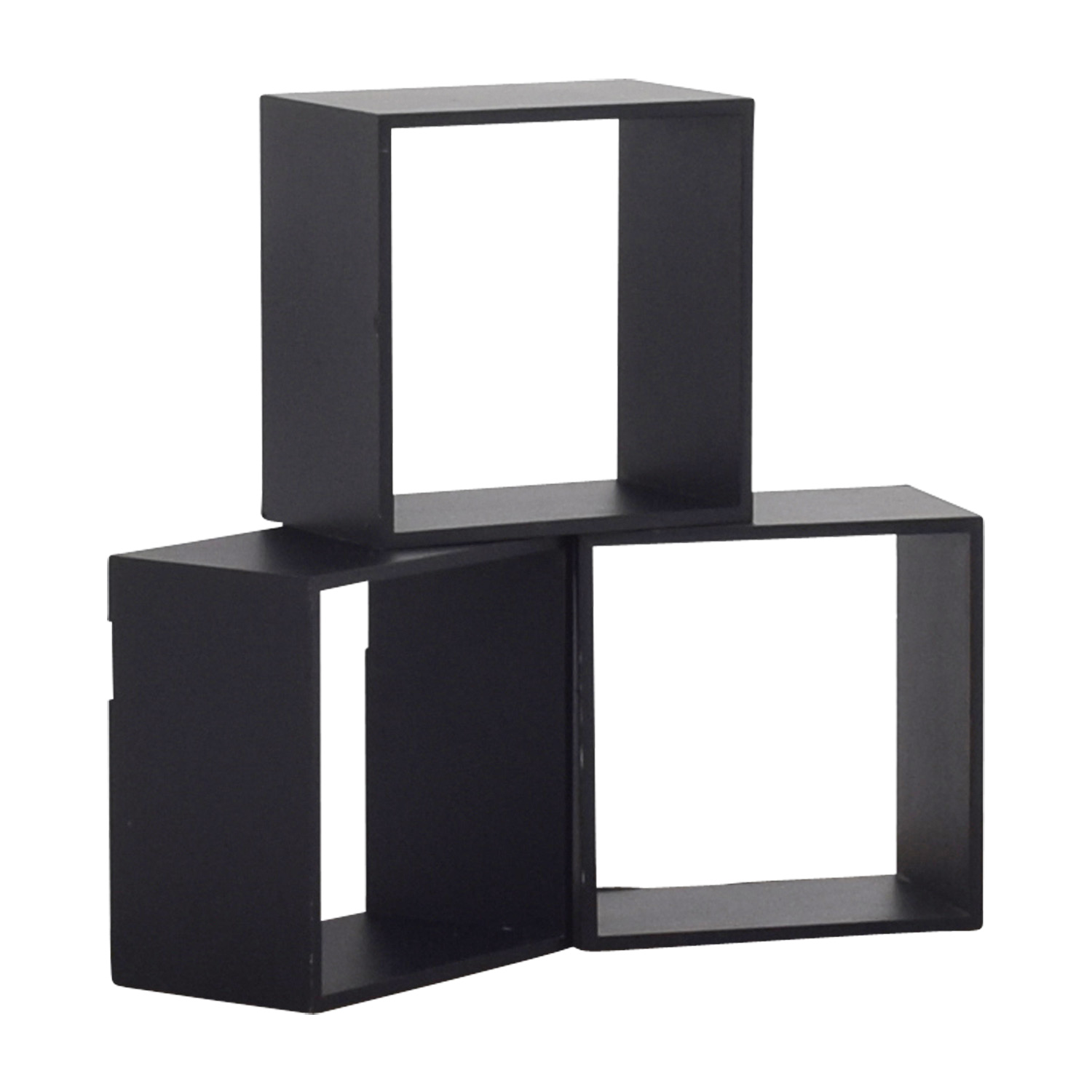 Black Decorative Wall Box Shelves BLACK
