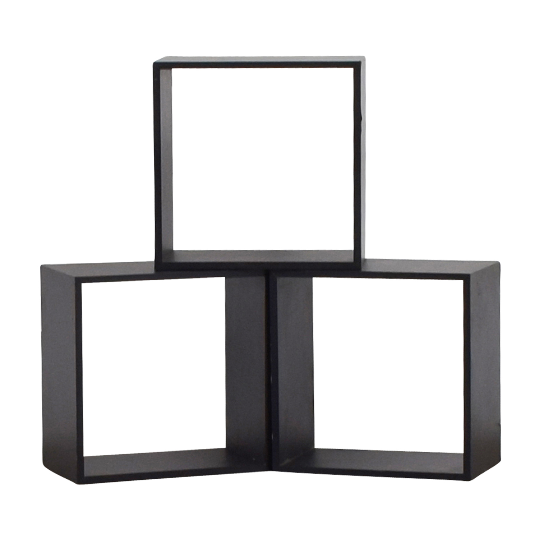 Black Decorative Wall Box Shelves discount
