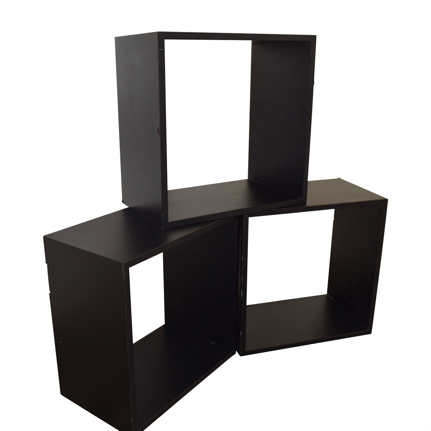 Black Decorative Wall Box Shelves sale