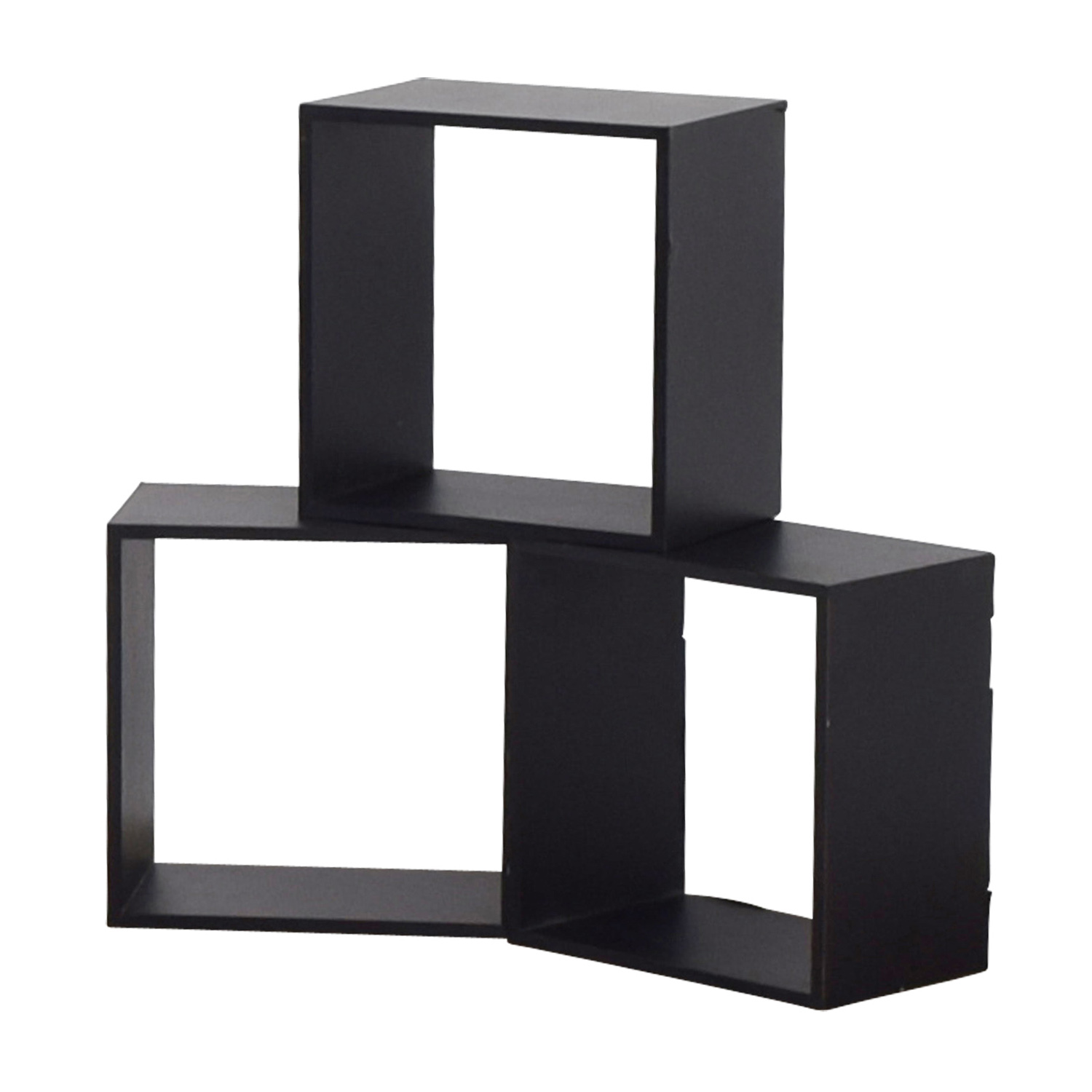 Black Decorative Wall Box Shelves nj