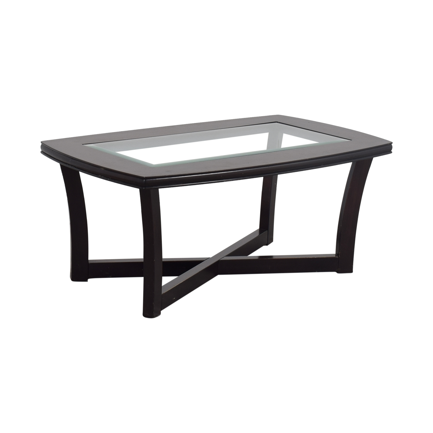 75 OFF Ashley Furniture Ashley Furniture Tempered Glass and