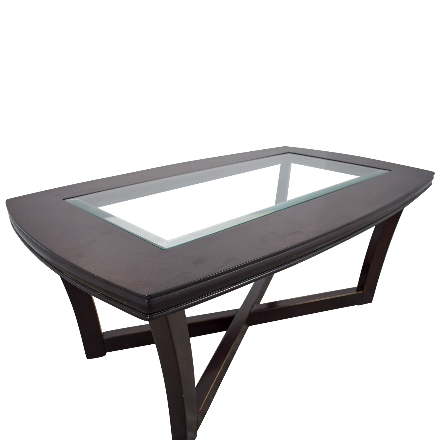 Ashley Glass Coffee Table.84 Off Ashley Furniture Ashley Furniture Tempered Glass And Cherry Stain Coffee Table Tables