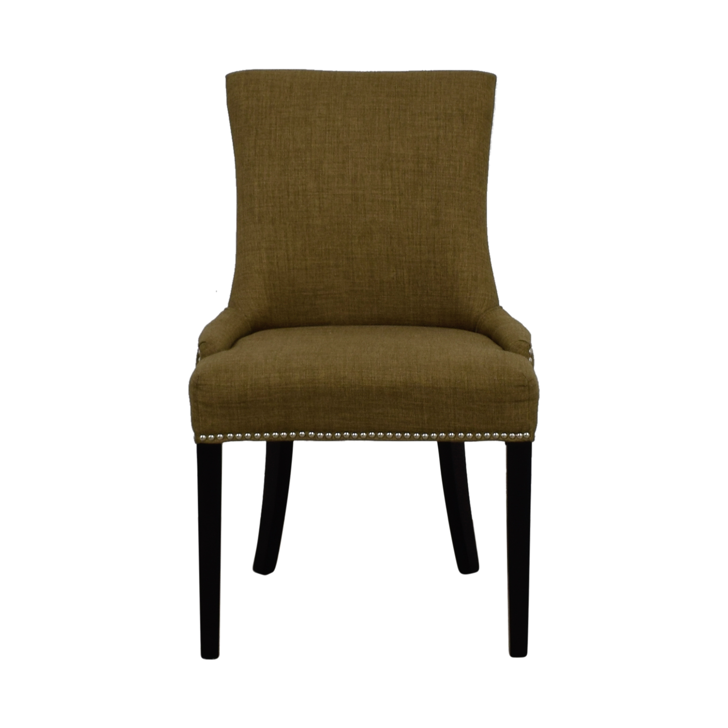 Abbyson Newport Tan Fabric Nailhead Dining Chair Abbyson Newport