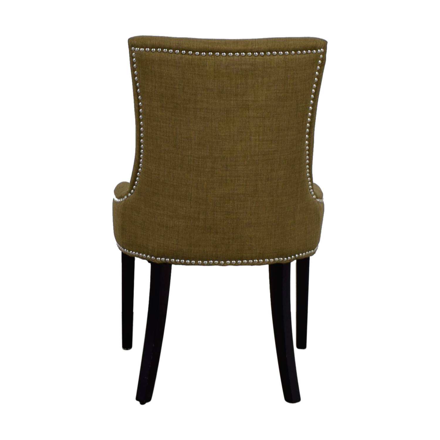 Abbyson Newport Tan Fabric Nailhead Dining Chair / Chairs
