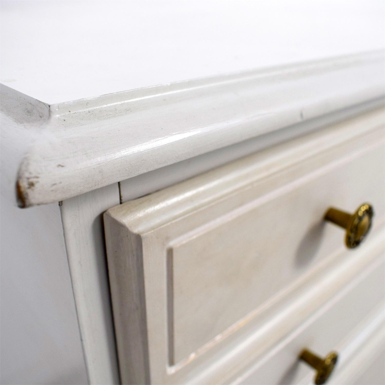 Bassett Furniture Bassett Furniture White Four-Drawer Antique Dresser for sale
