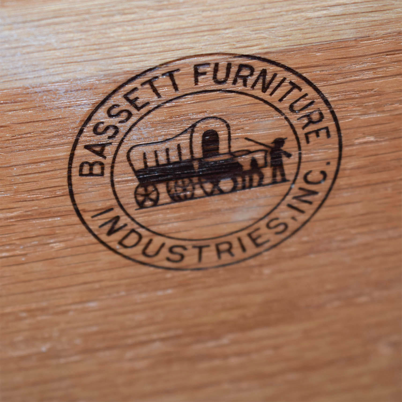 bassett furniture logo. Fine Bassett Bassett Furniture White FourDrawer Antique Dresser  On Sale On Logo A