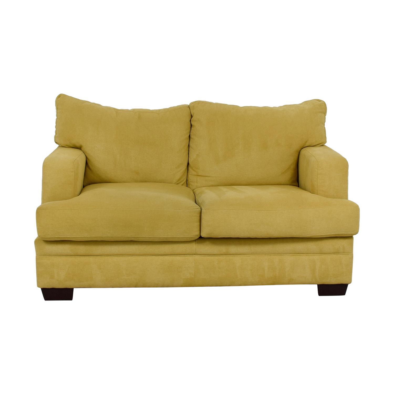 Super 88 Off Jennifer Furniture Jennifer Convertibles Yellow Loveseat Sofas Gamerscity Chair Design For Home Gamerscityorg