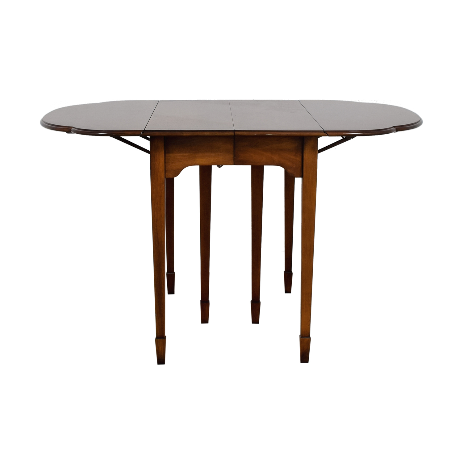 Strange 90 Off Round Wood Table With Folding Leaves Tables Interior Design Ideas Philsoteloinfo