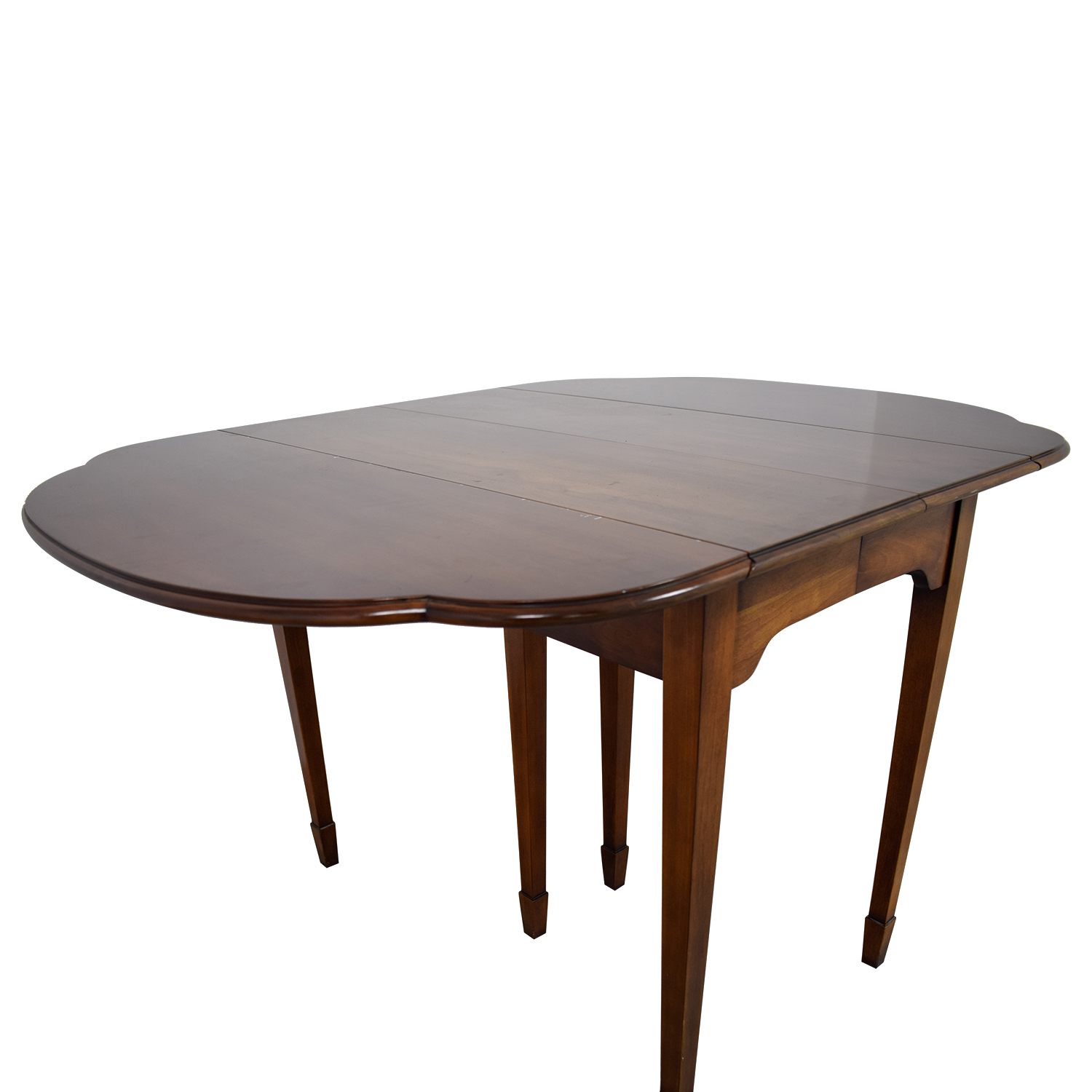 Ethan Allen Hen And Extendable Folding Leaf Dining Table Brown