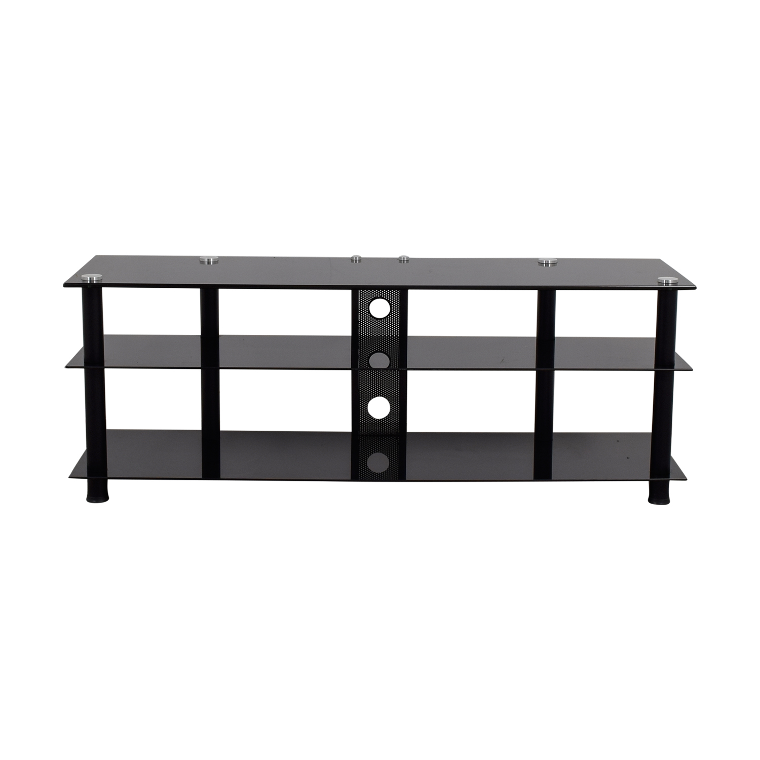 shop Black Glass TV Stand Media Units