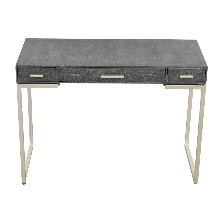buy Palecek Faux Grey Stingray Shagreen Desk Palecek Sofas