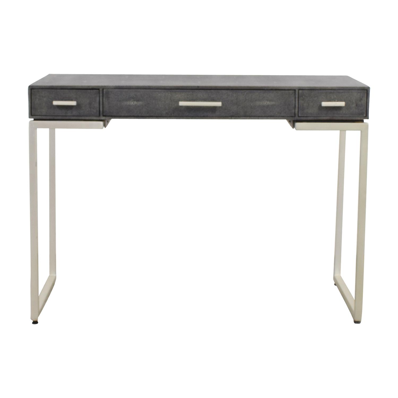 Palecek Faux Grey Stingray Shagreen Desk sale