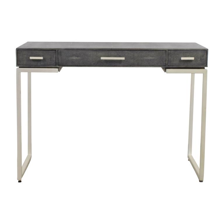 buy Palecek Faux Grey Stingray Shagreen Desk Palecek
