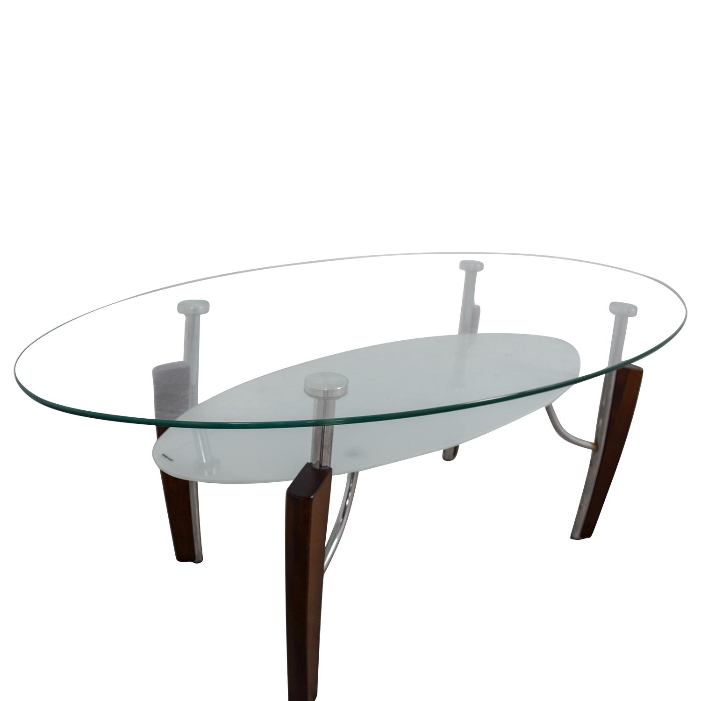 Jennifer Convertibles Jennifer Convertibles Oval Glass Coffee Table coupon