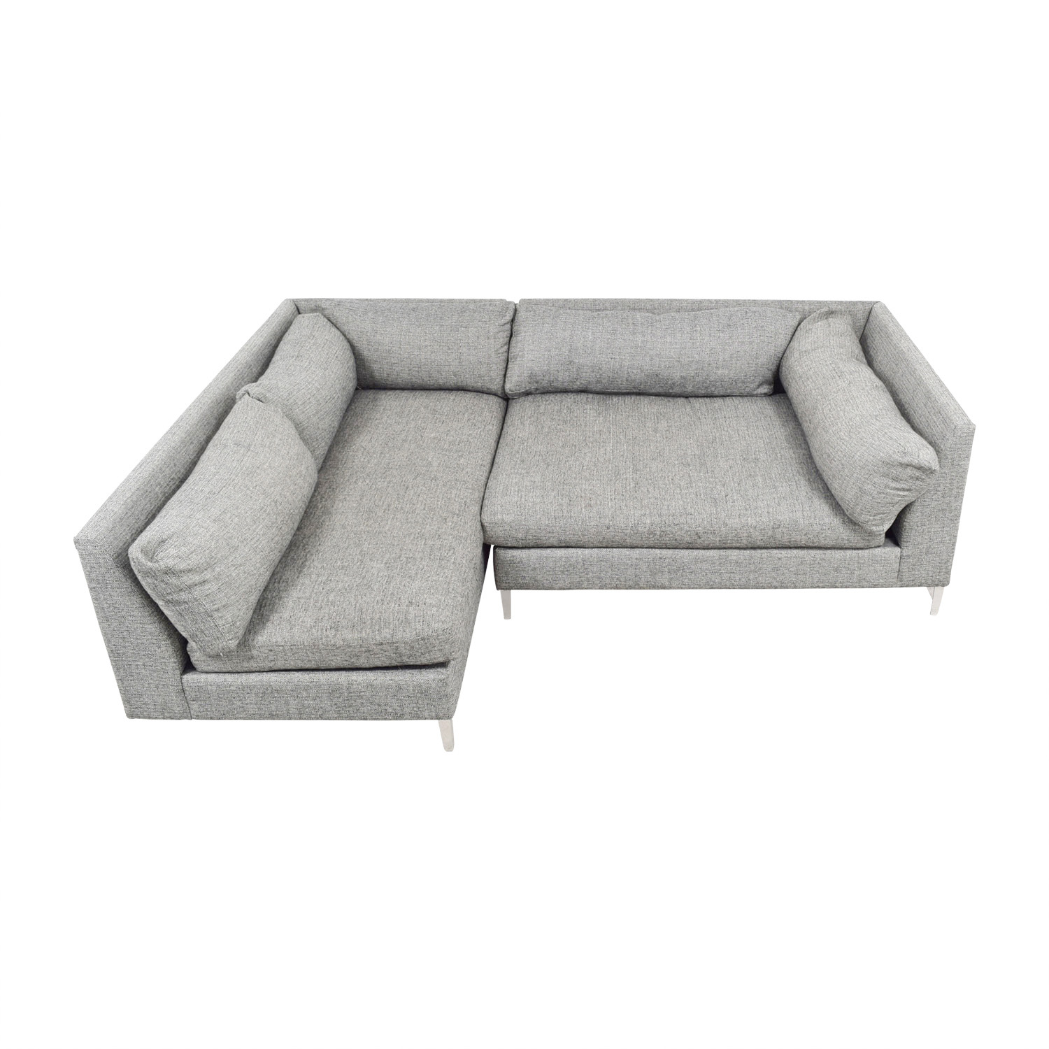 CB2 CB2 Decker Grey Sectional dimensions