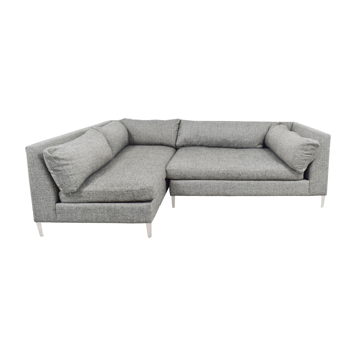 CB2 CB2 Decker Grey Sectional on sale
