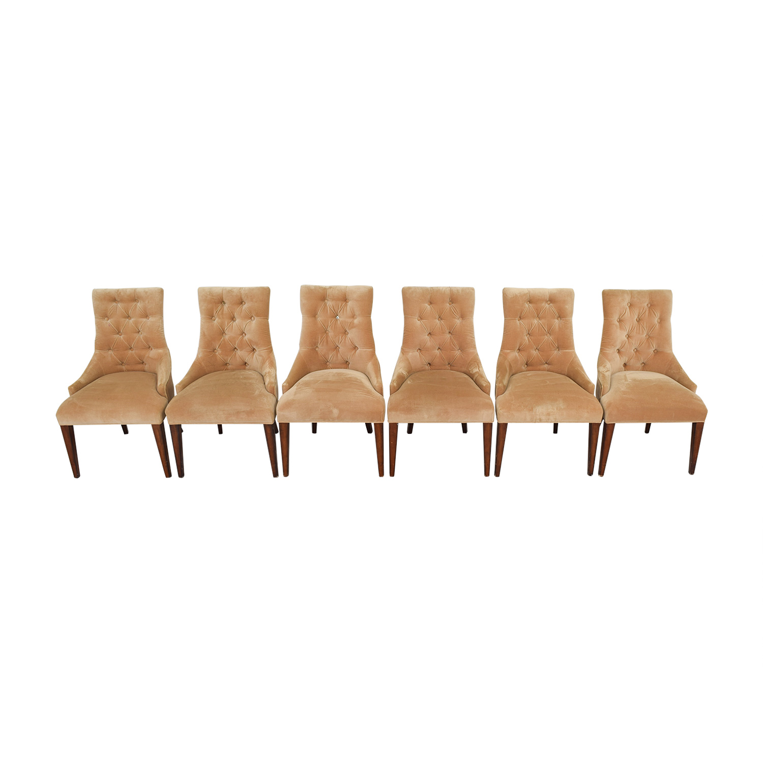 Tan Tufted Velvet Chairs Chairs