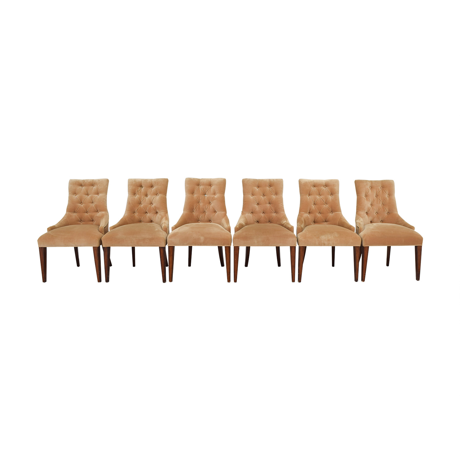 Tan Tufted Velvet Chairs on sale