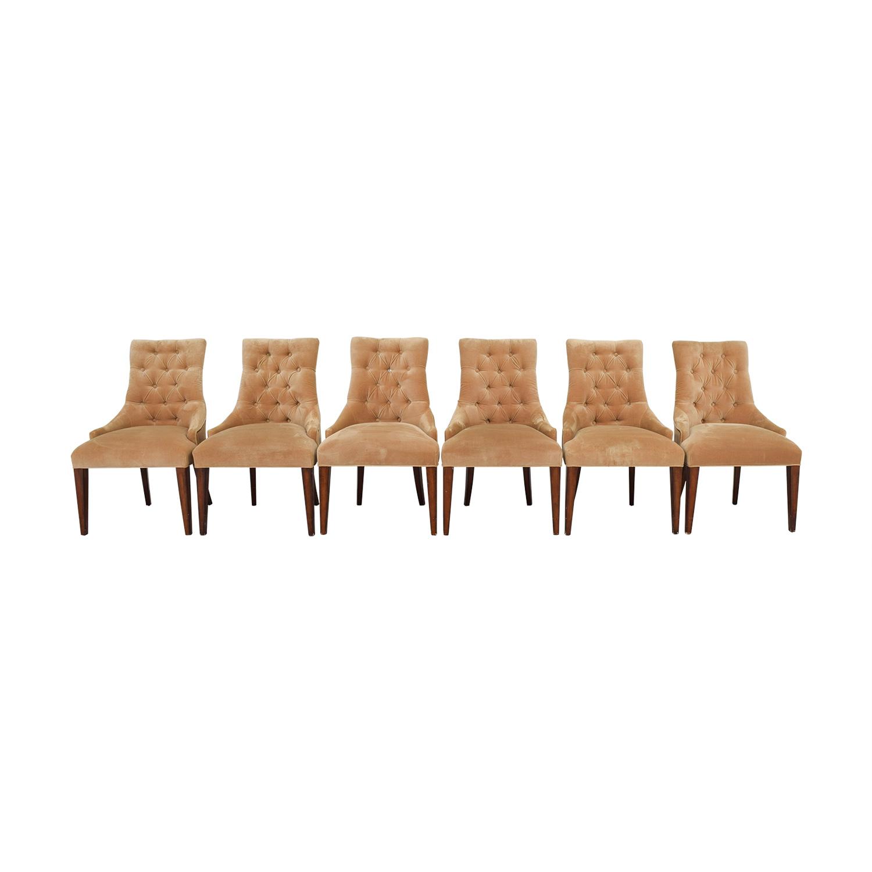 buy  Tan Tufted Velvet Chairs online