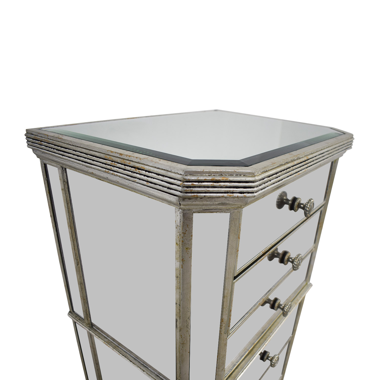 Seven-Drawer Mirrored Tall Dresser price