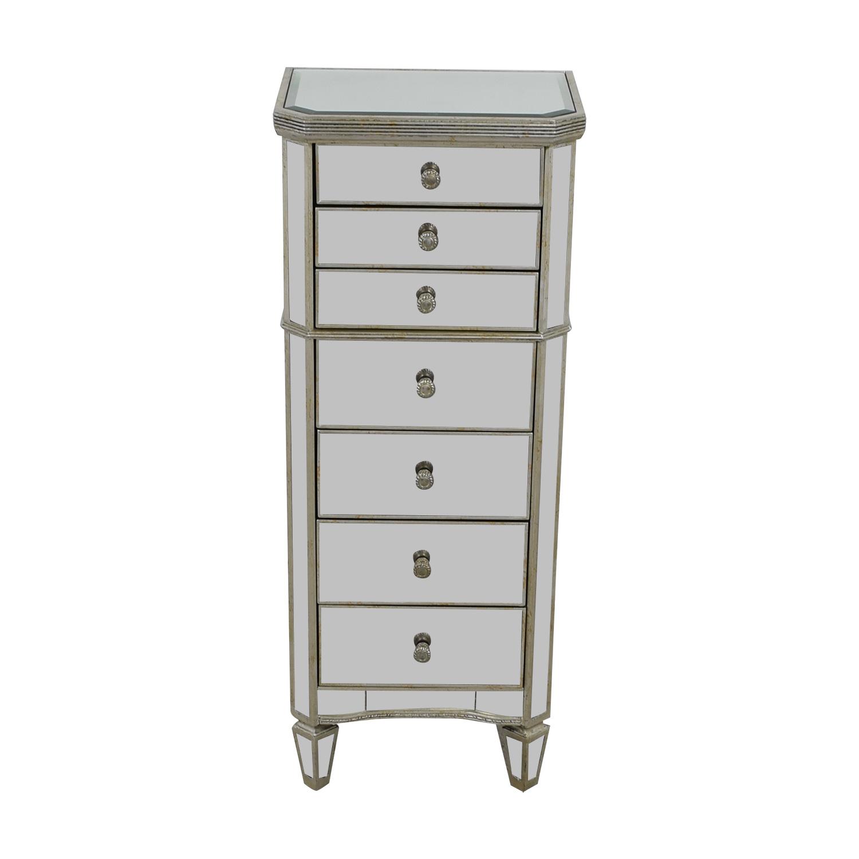 buy  Seven-Drawer Mirrored Tall Dresser online