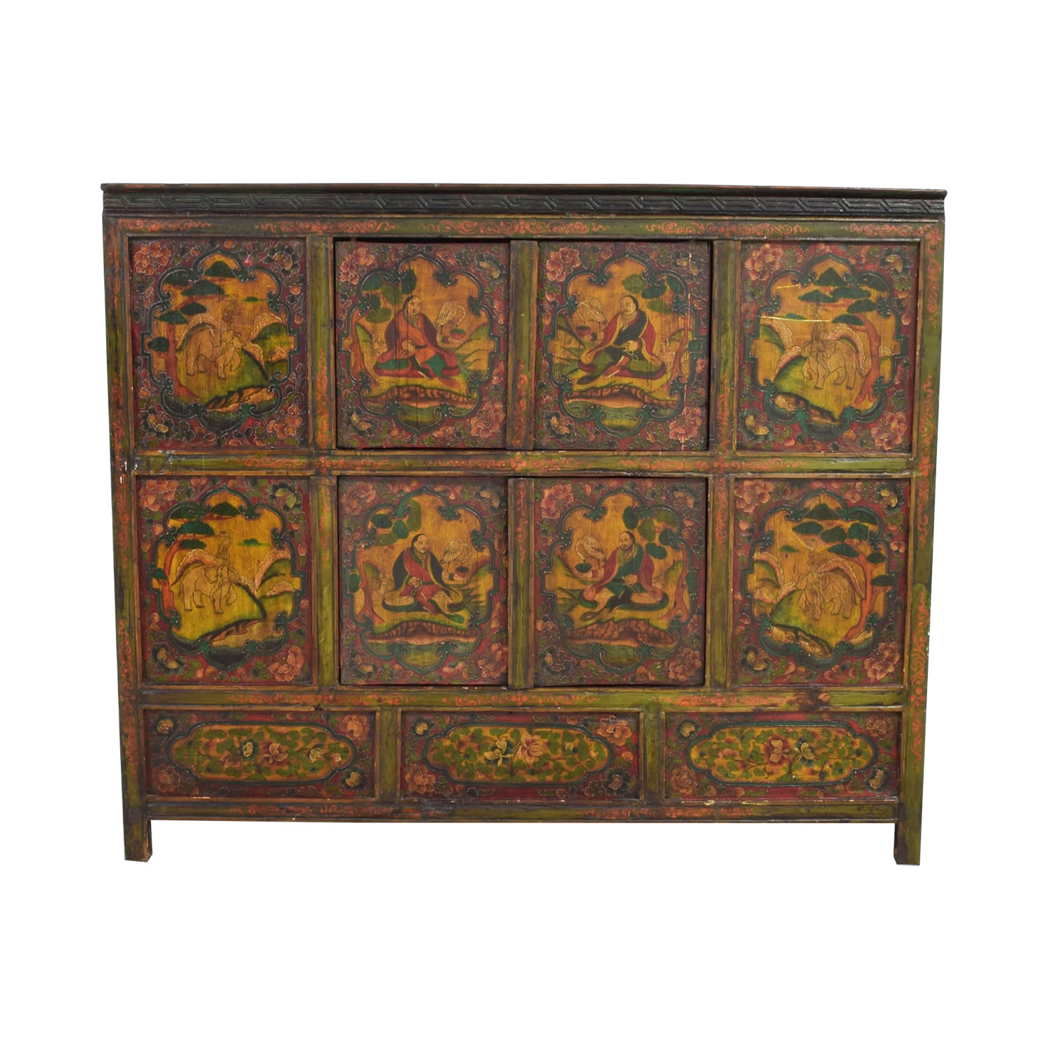 shop Authentic Custom Tibetan Painted Cabinet  Storage