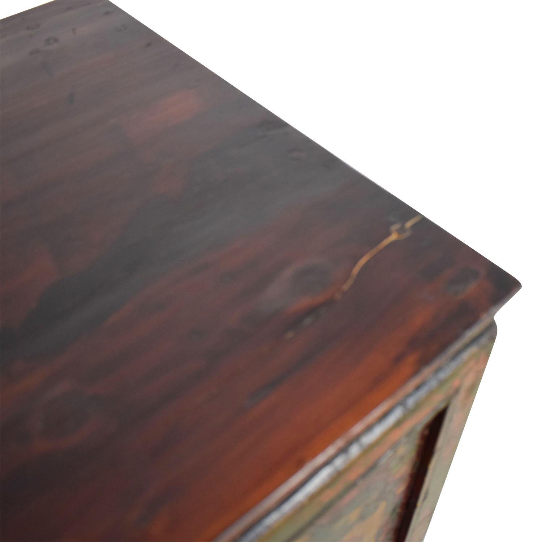 Authentic Custom Tibetan Painted Cabinet Storage