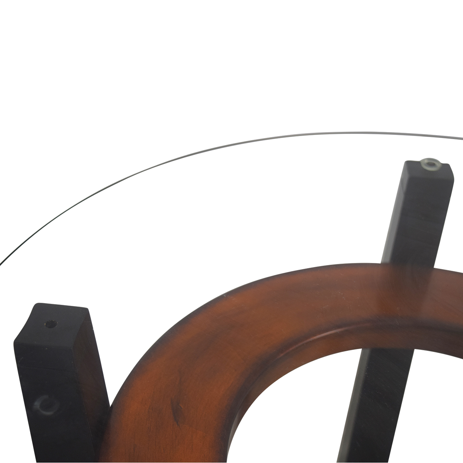 Elation Round Glass and Wood End Tables / End Tables