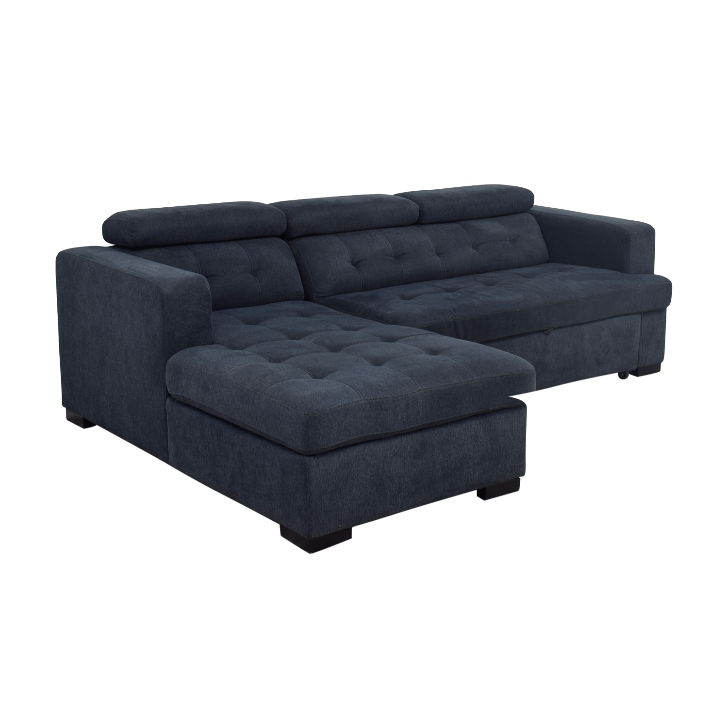 playpen playpen navy tufted chaise sectional