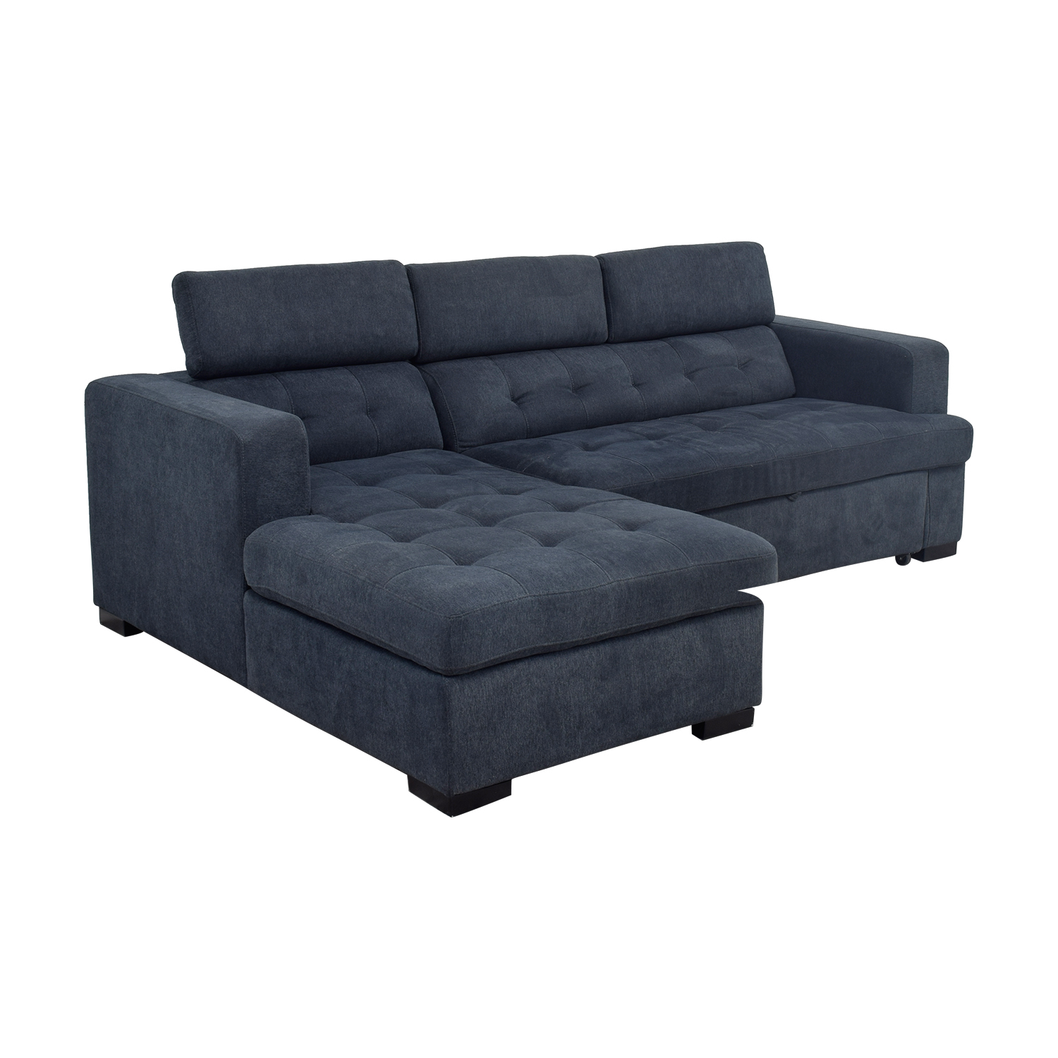 Playpen Playpen Navy Tufted Chaise Sectional on sale
