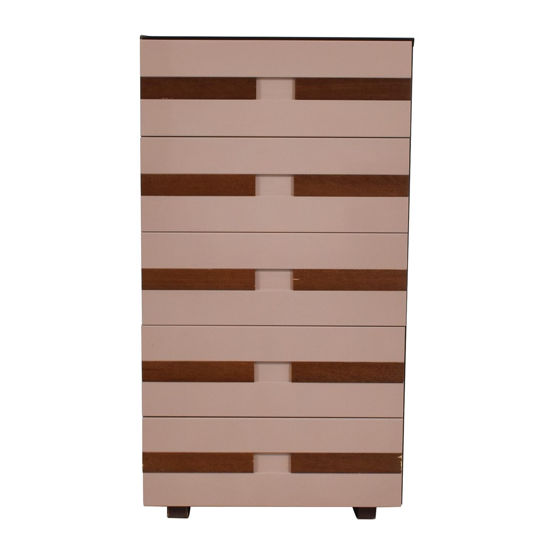 buy Three Tone Five Drawer Chest  Storage