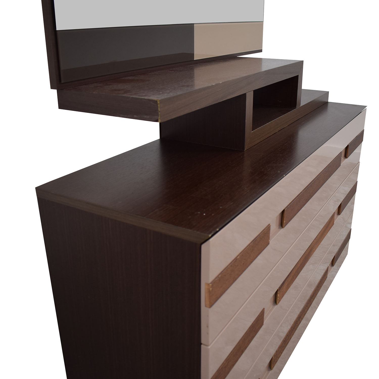 Spanish Three-Drawer Dresser with Mirror dimensions