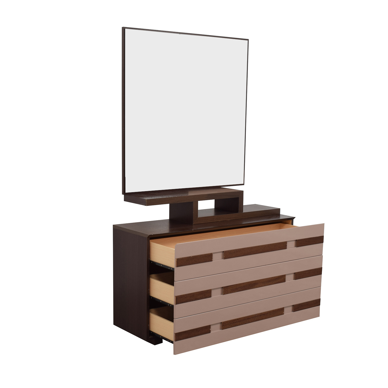 Spanish Three-Drawer Dresser with Mirror sale