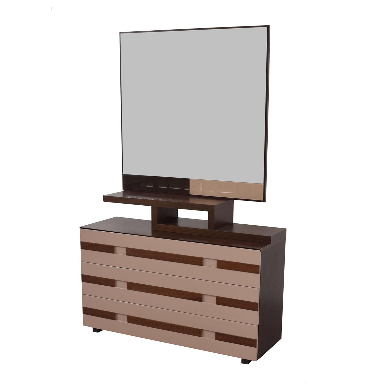 buy Spanish Three-Drawer Dresser with Mirror