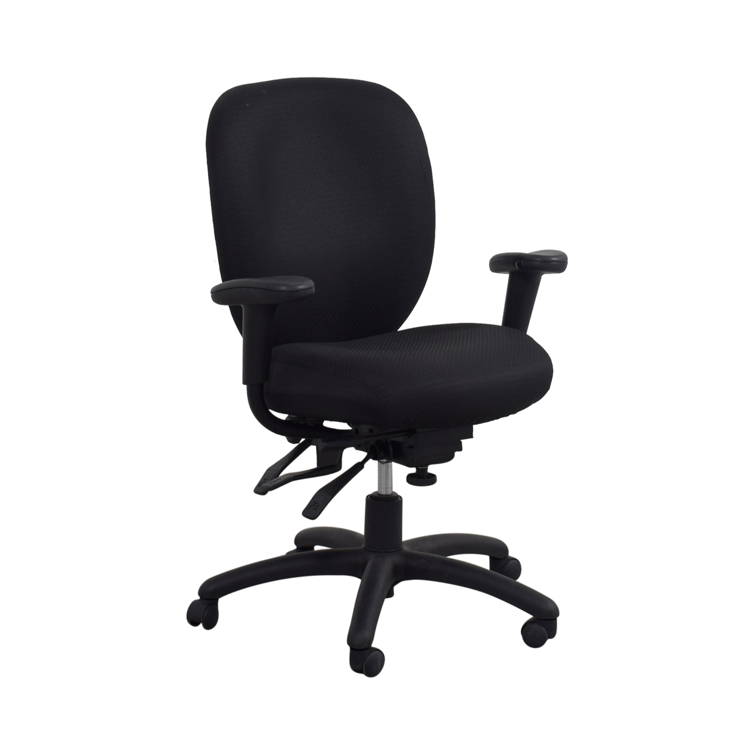 Offices to Go Offices to Go Black Quilt Office Chair BLACK