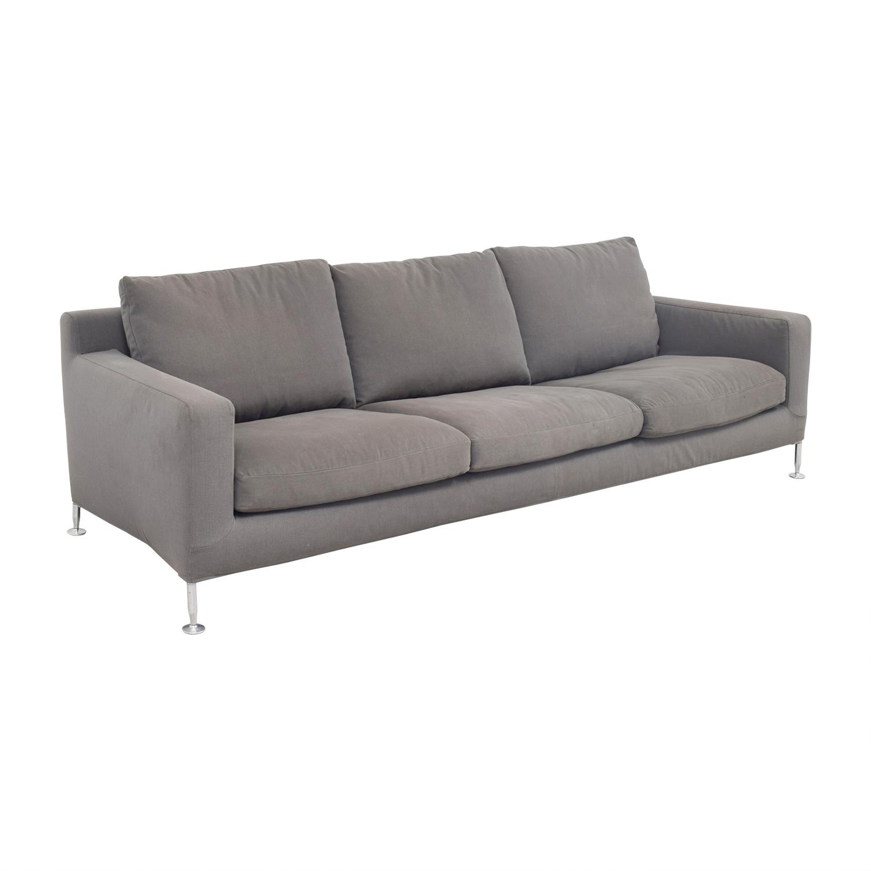B&B Italia B&B Italia Harry Grey Three-Cushion Couch Sofas
