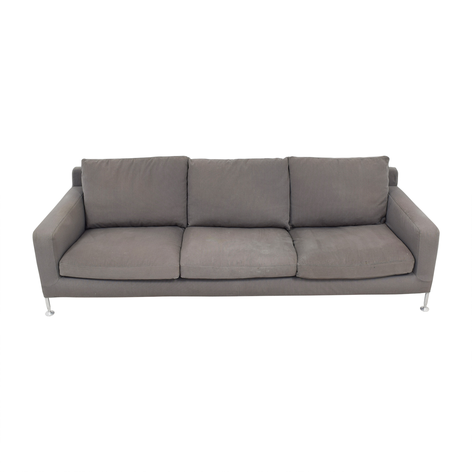 shop B&B Italia B&B Italia Harry Grey Three-Cushion Couch online