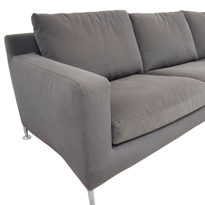 B&B Italia Harry Grey Three-Cushion Couch B&B Italia