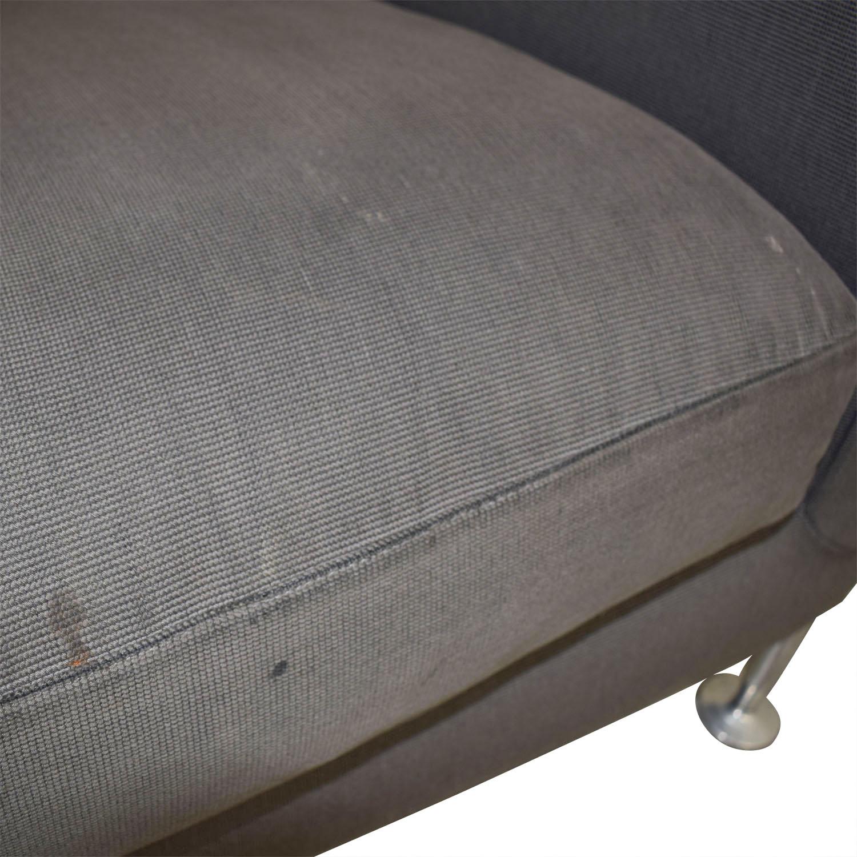 B&B Italia B&B Italia Harry Grey Three-Cushion Couch nj
