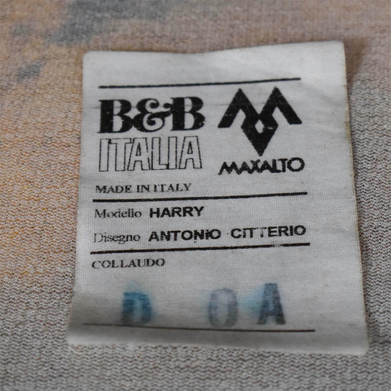 B&B Italia B&B Italia Harry Grey Three-Cushion Couch Classic Sofas