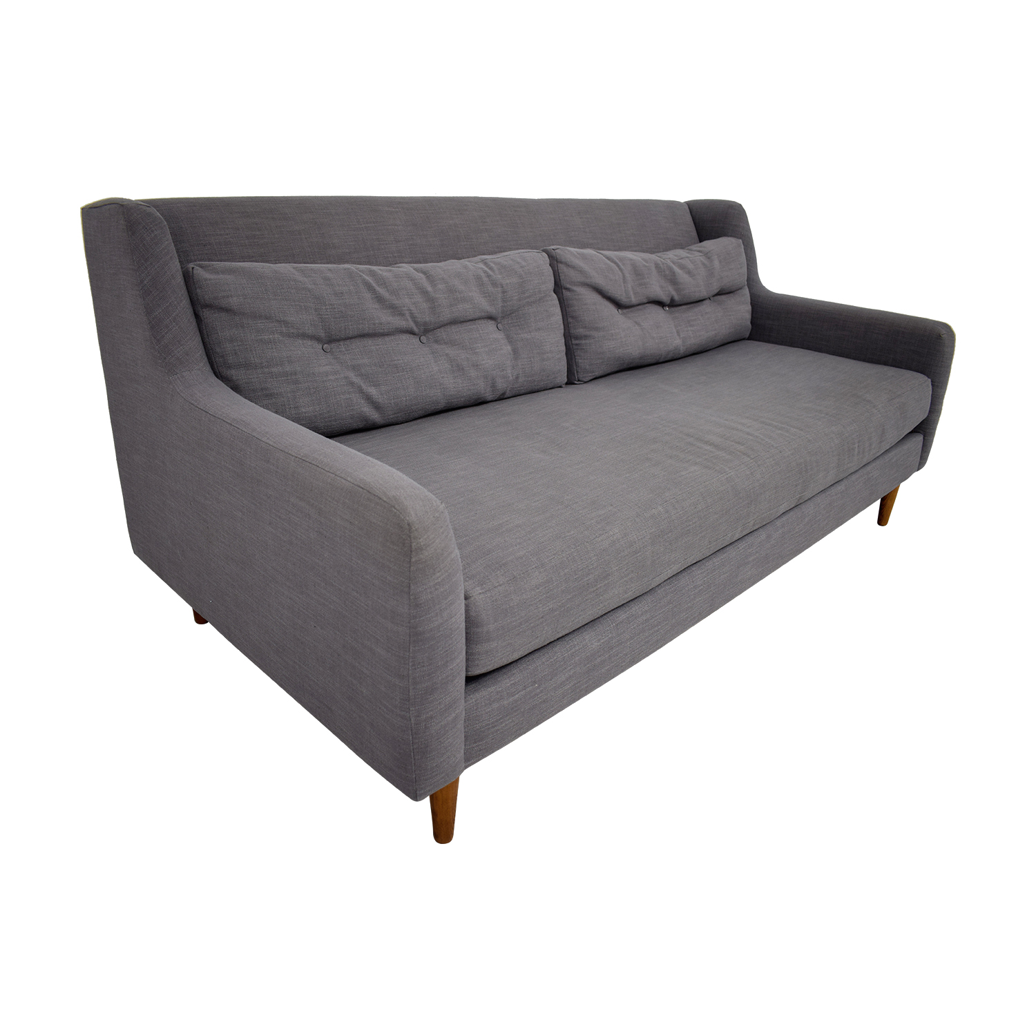 buy West Elm Crosby Grey Mid-Century Couch West Elm Sofas