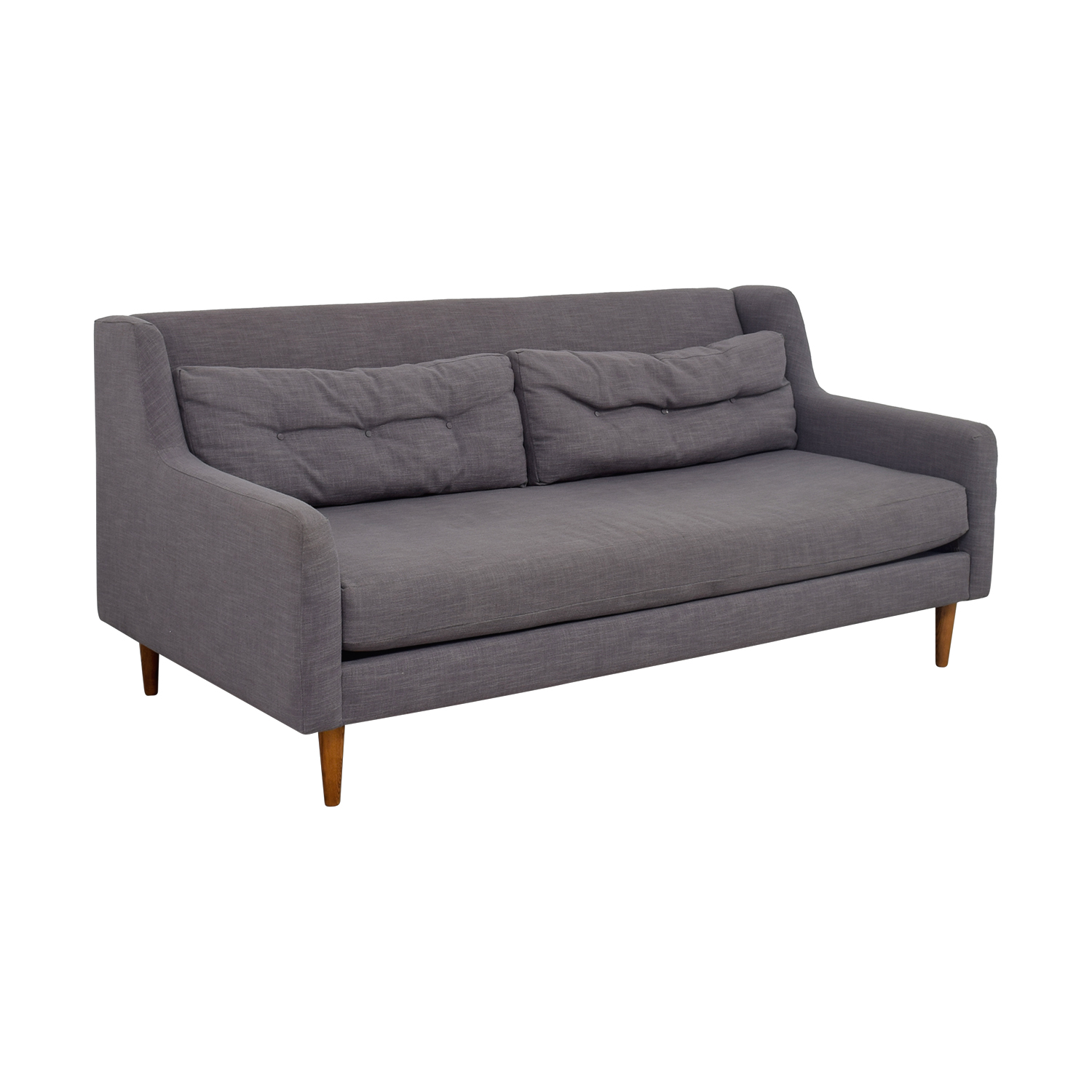 West Elm West Elm Crosby Grey Mid-Century Couch grey