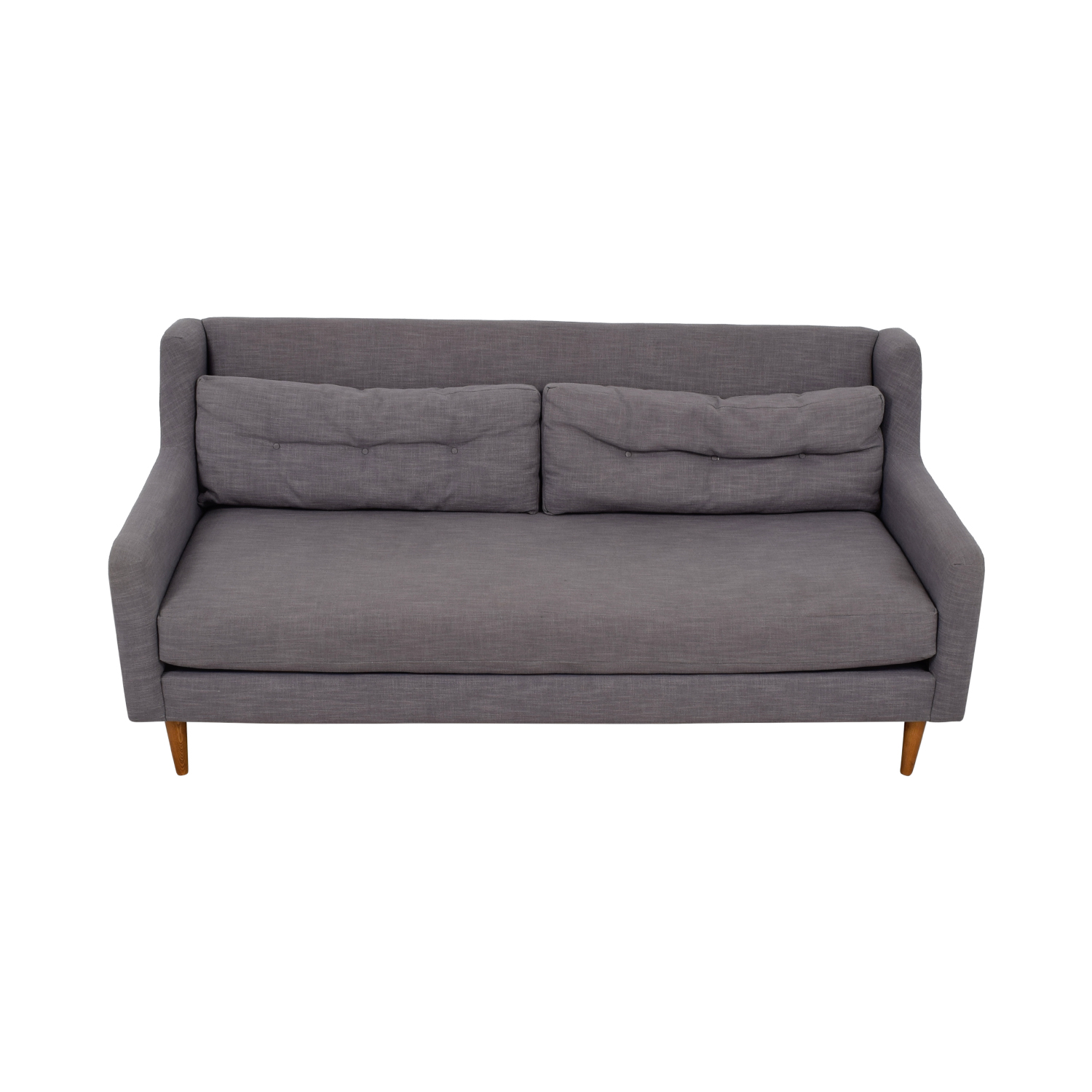West Elm Crosby Grey Mid-Century Couch West Elm