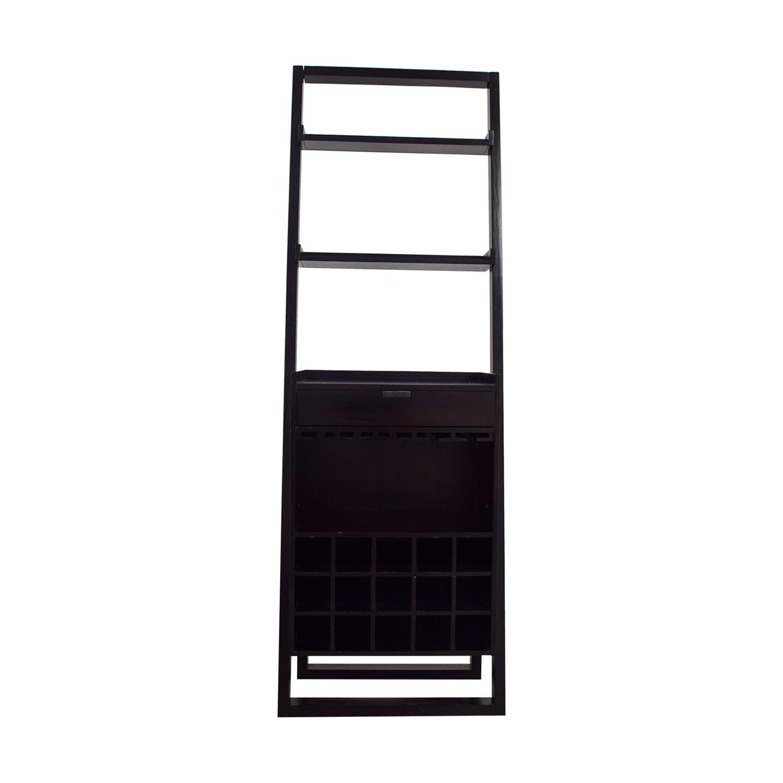 shop Crate & Barrel Single Drawer Leaning Wine Holder Crate & Barrel Cabinets & Sideboards