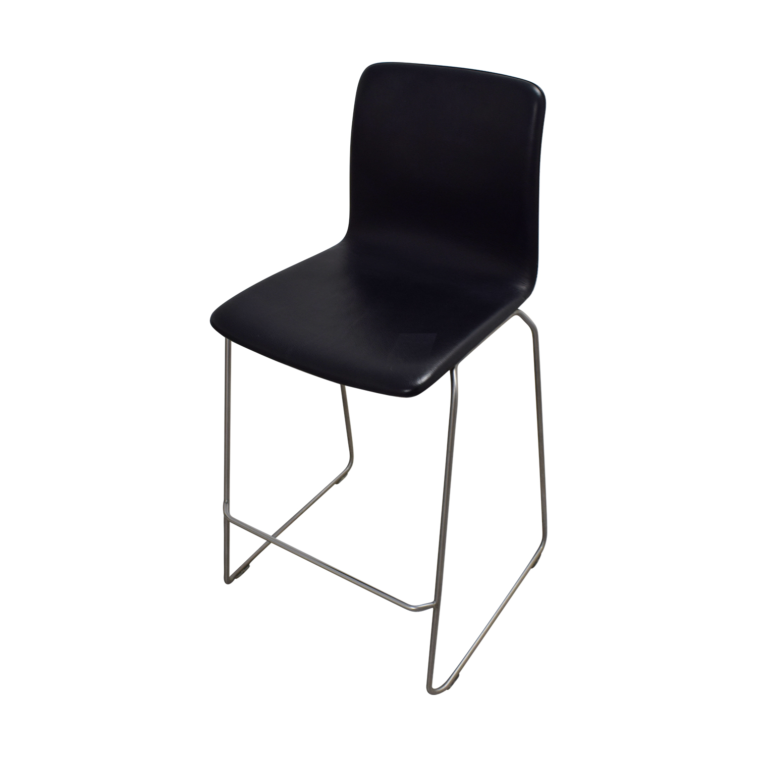 High Table And Bar Stools: HAY HAY Black And Chrome High Table And Bar
