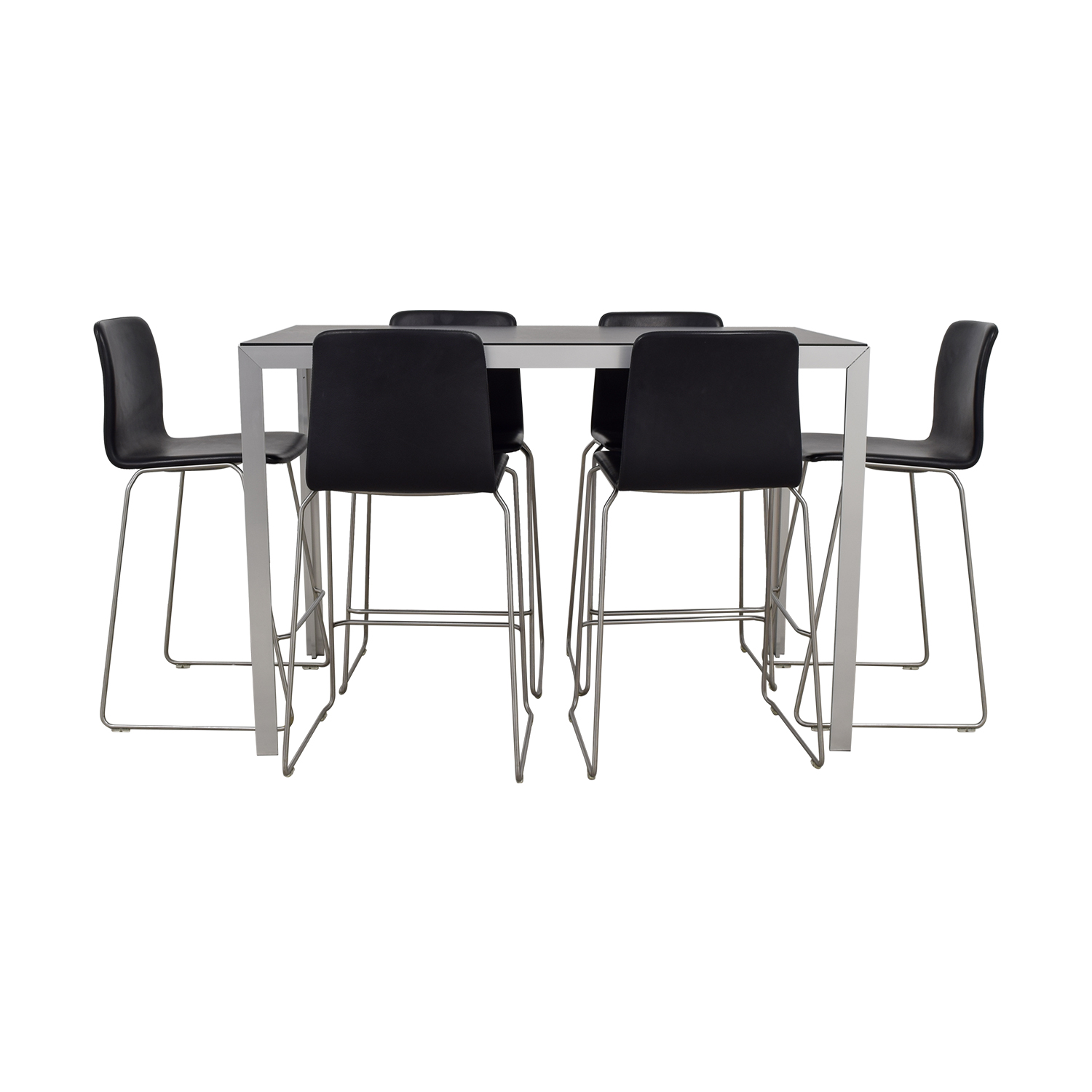 Charming Shop HAY Black And Chrome High Table And Bar Stools HAY ...