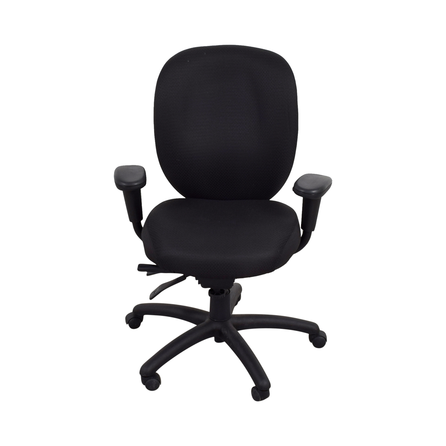 Offices to Go Offices to Go Black Quilt Office Chair Home Office Chairs